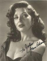 Actress Jane Adams, signed 10x8 vintage black and white photo, dedicated to John. Betty Jane Bierce,