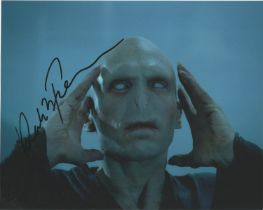 Actor Ralph Fiennes signed 10x8 colour photo in character as Lord Voldemort from the Harry Potter