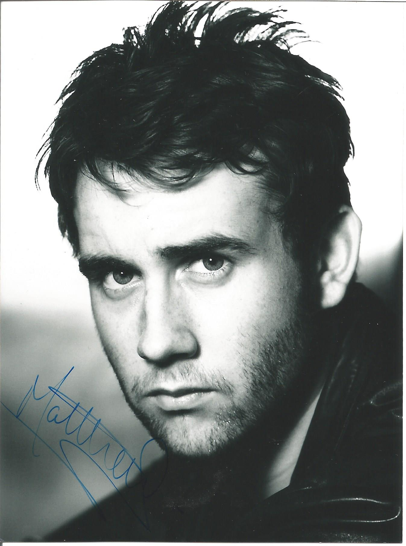 Actor Matthew Lewis signed 6x4½ black and white photo. Matthew David Lewis is an English actor. He