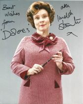 Actress Imelda Staunton signed 10x8 colour photo in character as Dolores Umbrage inscribed from