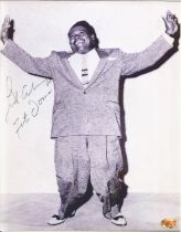 Singer Fats Domino signed 10x8 black and white image. Antoine Dominique Domino Jr., known as Fats