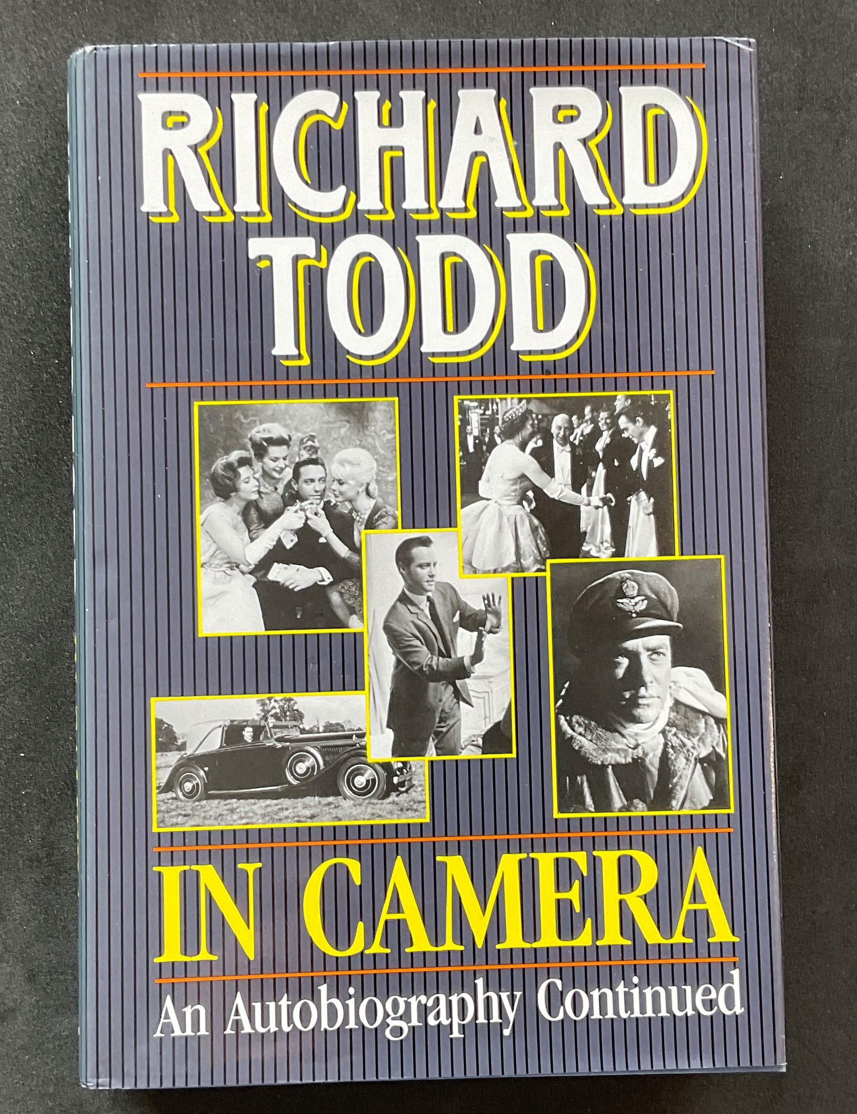 Actor Richard Todd's autobiography In Camera, signed, with nice inscription, dedicated to Pat and
