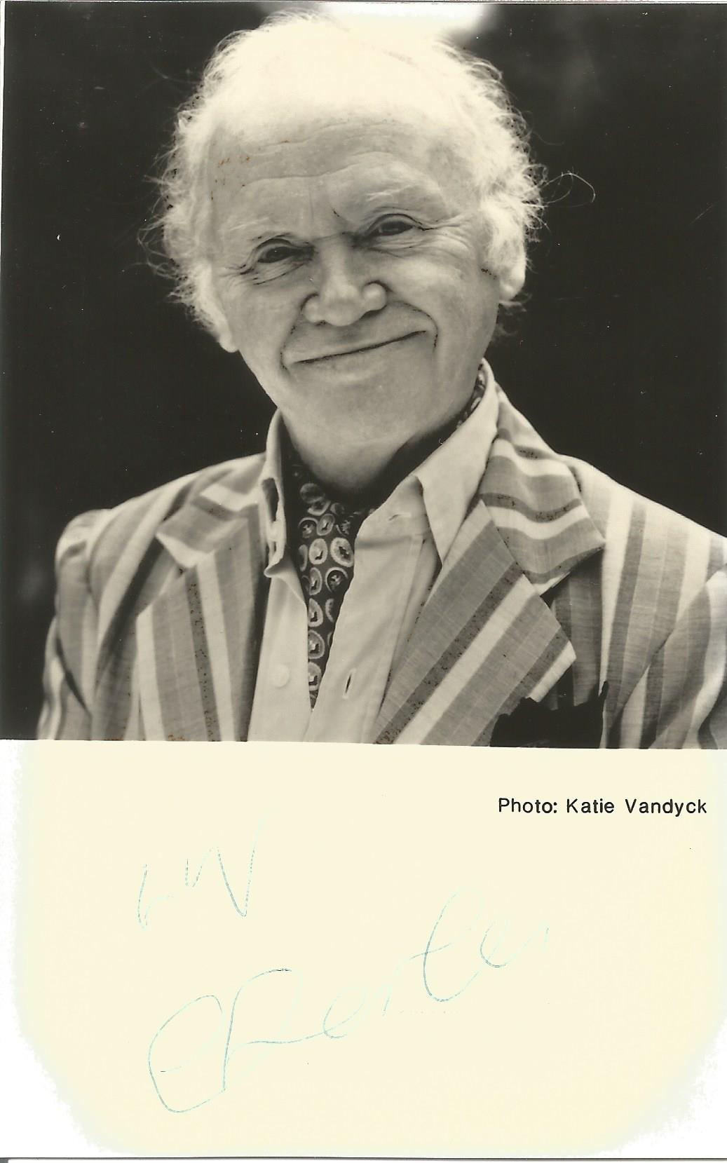 Actor Charlie Drake signed 5½x3½ black and white photo mounted to a size of 6x4. Charles Edward