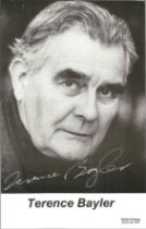 Actor Terence Bayler signed 6x3 black and white photo together with cover letter with Harry Potter