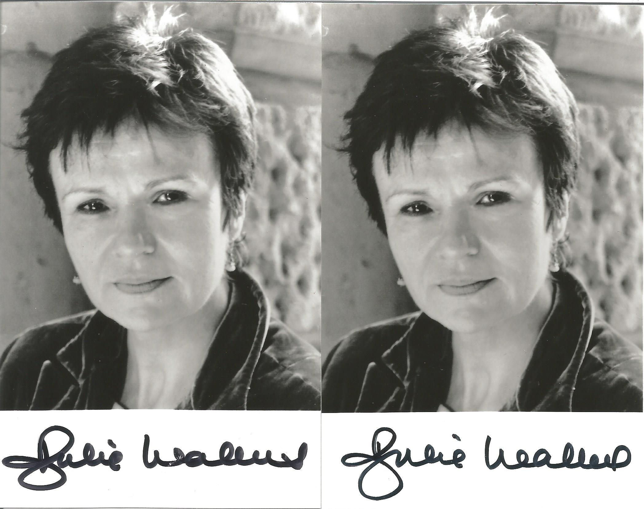 Actress Julie Walters three signed 5½x3 black and white photos. Dame Julia Mary Walters DBE, known - Image 2 of 2