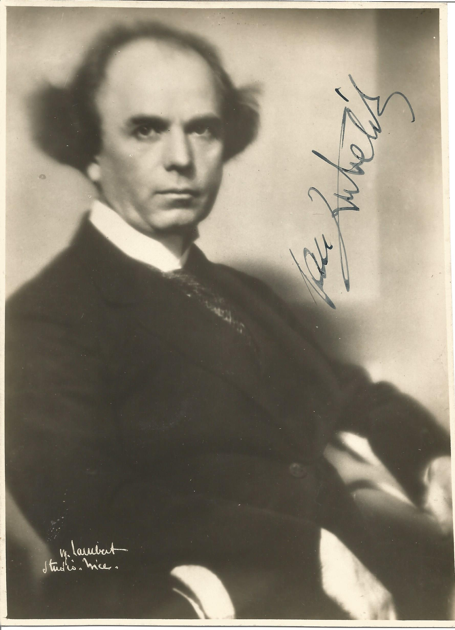 Violinist Jan Kubelik vintage black and white 8x6 photo with inscription to verso dated 1931. Jan