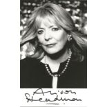 Actress Alison Steadman signed 5½x3 black and white photo. Alison Steadman, OBE is an English