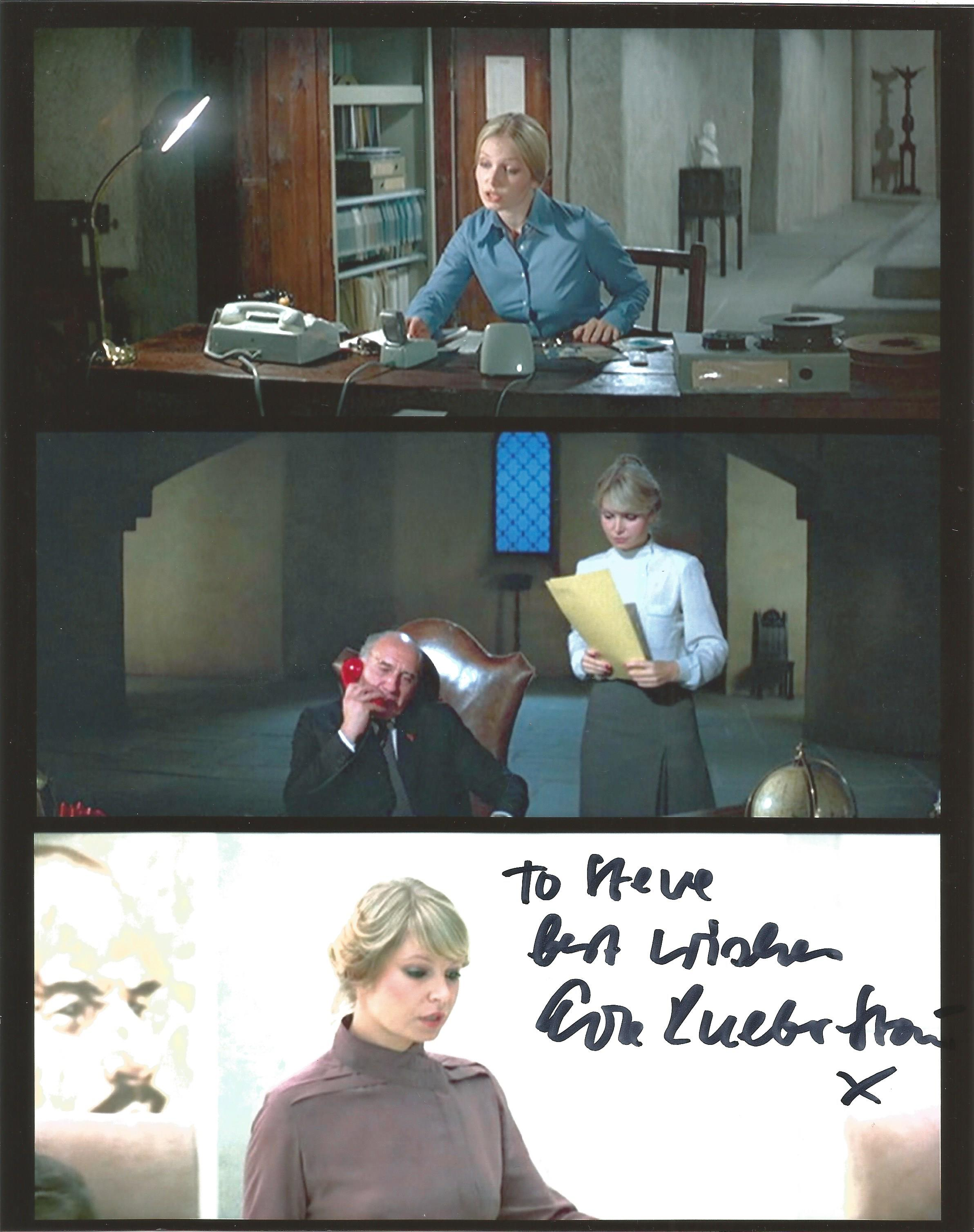 Actress Eva Rueber-Staier signed 10x8 colour image, dedicated to Steve. Eva Rueber-Staier is an