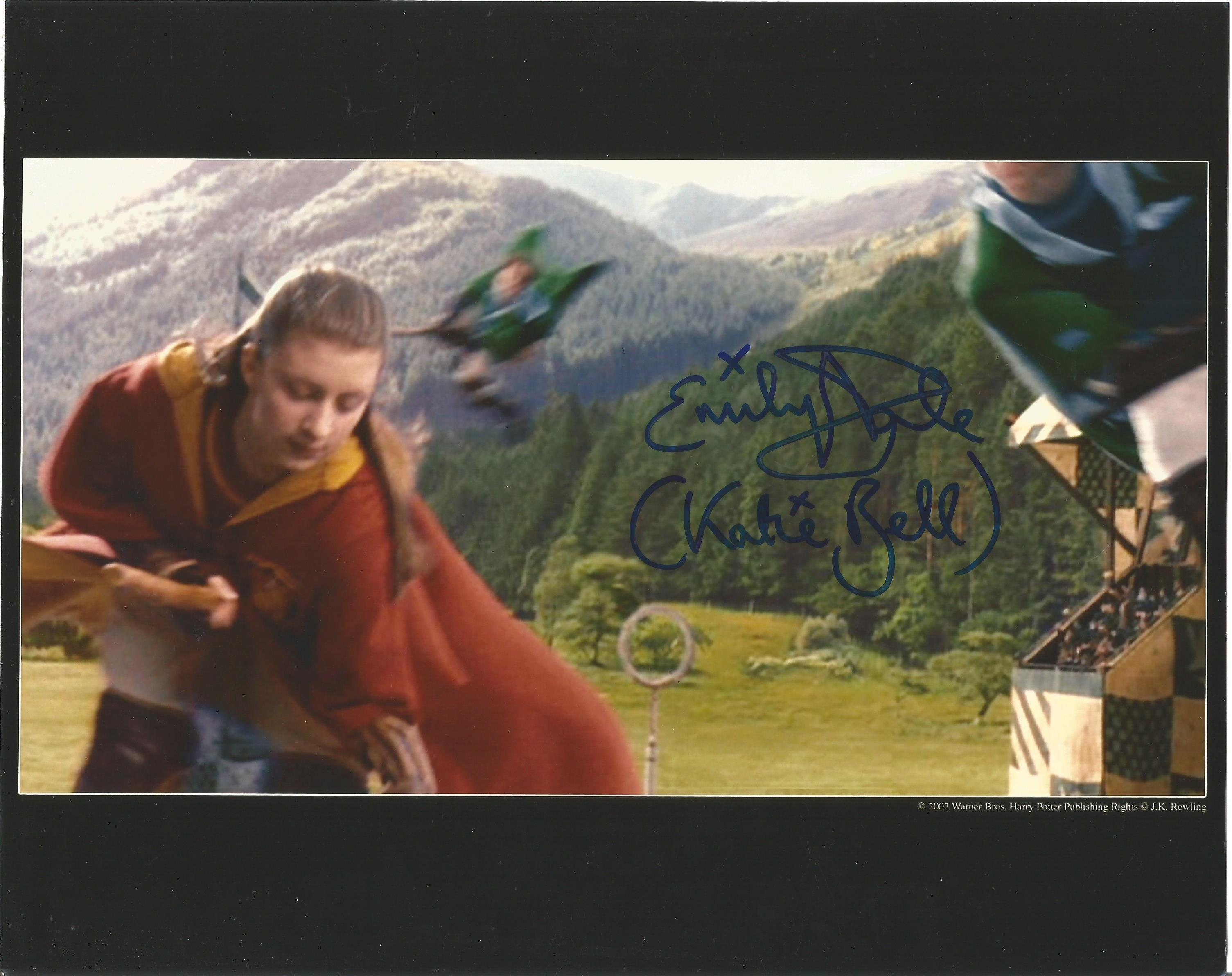 Actress Emily Dale signed 10x8 colour photo in character as Katie Bell from the Harry Potter film