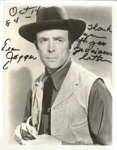 Actor Dean Jagger signed and inscribed 10x8 black and white photo. Dean Jagger was an American film,