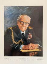 Stan Baldock MBE FDM Hand signed Limited Edition 461/950 Print. Print of Sir Arthur Harris GCB OBE
