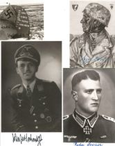 WW2 Collection of 28 Luftwaffe German fighter Aces black and white signed photos. Unidentified