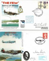 WW2 Collection of 4 Signed Battle of Britain FDCs . 1x Invasion Month 7th September 1940 RAFA 14