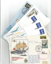 WW2 Collection of 36 Varied Official Flown covers. 14 Signed by Admirals Mayors and Commanders. 12