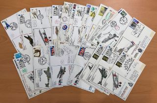 27 RAF Signed Flown covers signed by different pilots including Lt Cdr Brian Davies R E Lockhart Flt