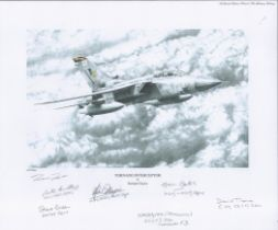 Aviation. Richard Taylor Pencil Drawn Print Titled Tornado Interceptor 13x11 in size. Hand signed in