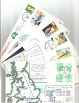 WW2 Collection of 11 Signed Aviation flown FDCs dating back to 1984 includes RAF Participation in