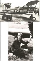 WW2 Collection of 2 Black and White Printed photos displaying a pilot Charles Lindbergh and a