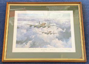World War II Sgt Norman Jackson VC Bill Reid VC and Sir Arthur Harris 1st Baronet signed 27x21