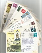 WW2 Collection of 9 Fighter Aces/Pilots RAF FDCs. 5 Signed. 4 Unsigned. Air Marshal William Avery