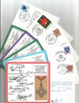 WW2 Collection Of 5 DM Medals Signed FDCs With Postmark Stamps. 1x Appointment to the Most Excellent