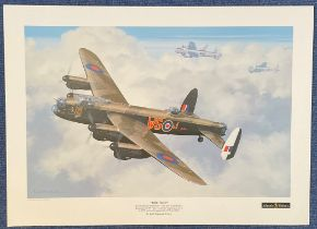 WW2 Keith Woodcock Print. Titled Time Flies To Celebrate 50 Years Gone and Still Going Strong