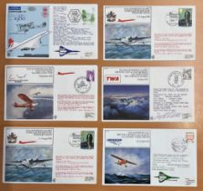 6 RAF Concorde Flown covers some signed. All have info cards in the rear official stamps dated 1980.