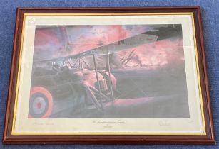 Vice Admiral Sir Richard Janvrin and Commander Charles Lamb Signed Robert Taylor print. Titled The