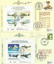 WW2 Collection of 5 Signed Royal Air Force FDCs . Signed By WW2 Fighter Pilots. 1x Cover Signed by