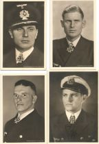 WW2 Collection of 11 WW2 U Boat Commanders black and white photos One Signed by Kapitanleutnant