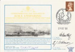 Commemorating The Exploits Of H. M. S. UNSPARING Under The Command Of LT A. D. PIPER, DSC RNR