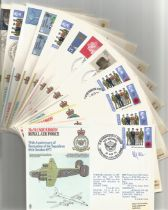 WW2 Collection of 12 Squadron Royal Air Force FDCs 10 signed covers. Signatures include Flt Lt F G