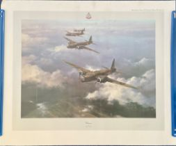 WW2 Robert Taylor Print Titled Wellington Signed by Bill Truman in pencil. 24x19 in size. Print