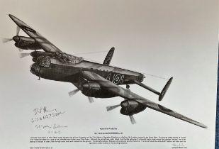 Dambusters World War II 12x17 Pencil Drawn print Titled Operation Chastise Avro Lancaster B. III