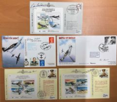 WW2 collection of 5 Signed Royal Air Force FDCs . 1x 70th Anniversary of the Battle of Arras April