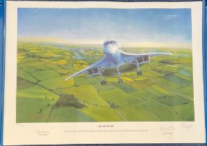 WW2 Artist Roy Layzell Print Titled 002 AIRBORNE. 23x16.5 in size. Limited Edition 230/750. Signed