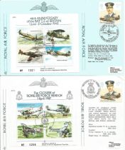 WW2 Collection of 3 Official Royal Air Force Flown covers One Signed by Pilot John Jordan. JSF 8 JSF
