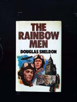 The Rainbow Men hardback book by Douglas Sheldon. Published 1976 W.H. Allen 1st edition ISBN 0 491