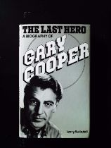 The Last Hero A Biography Of Gary Cooper hardback book by Larry Swindell. Published 1981 Robson