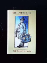 The Unquiet Suitcase hardback book by Gerald Priestland, signed by author, dedicated to Bob.