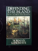 Defending The Island From Caesar To The Armada hardback book by Norman Longmate, signed by author.