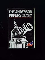 The Anderson Papers hardback book by Jack Anderson with George Clifford, signed by author (