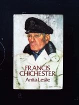 Francis Chichester hardback book by Anita Leslie, signed by author. Published 1975 Hutchinson and Co