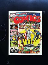 The Penguin Book Of Comics paperback book by George Perry and Alan Aldridge. Published 1971 ISBN 0