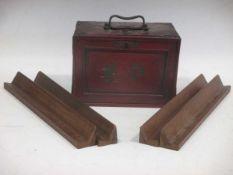 A boxed mahjongg set, early 20th century