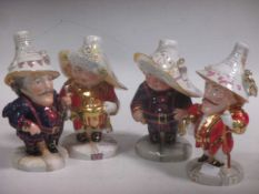 Four Royal Crown Derby Mansion House Dwarves, each from an edition of 20 for Peter Jones, Wakefield,