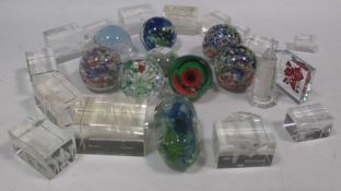 Two Caithness ltd edition paperweights, various others - mostly Caithness; together with 'lasered'