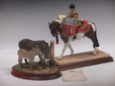 """A Border Fine Arts """"Royal Parade"""", No.64 of 250 of HM The Queen on horseback, by Anne Wall, on"""