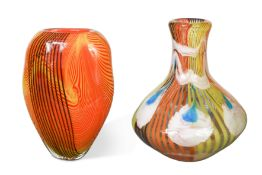 Two large Murano glass vases,