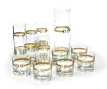 A collection of Gucci glassware,